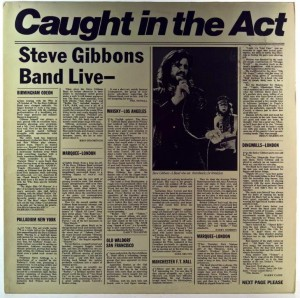 Steve Gibbons Band - Caught In The Act