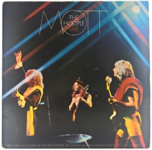 Mott The Hoople - Mott The Hoople Live + Insert 1974 UK 1 PRESS