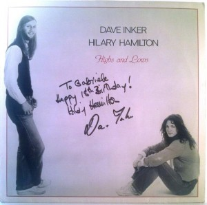 Dave Inker, Hilary Hamilton - Highs And Lows (z autografem)